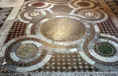 Medieval art, i.e. a cosmatesque pavement in a chapel at Santi Quattro Coronati
