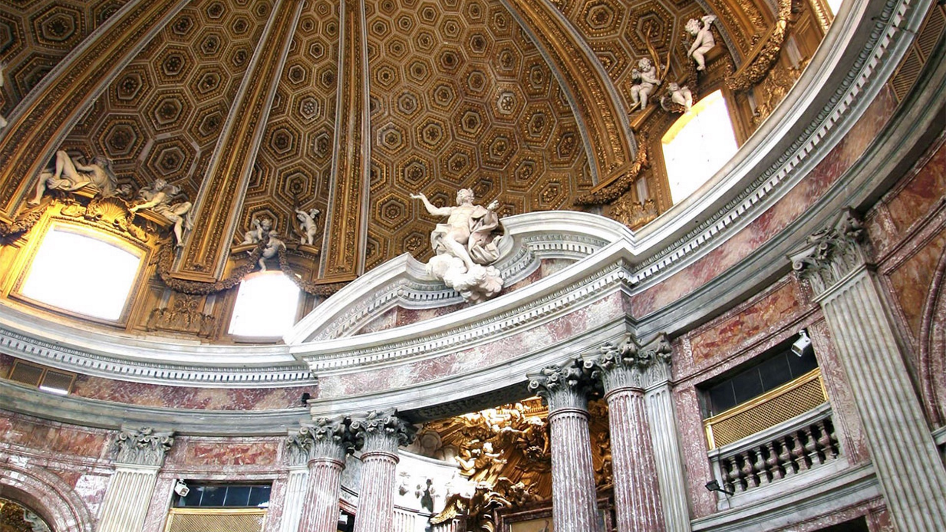 Roma Barocca climaxes in Bernini's Church of Sant'Andrea on the Quirinal Hill
