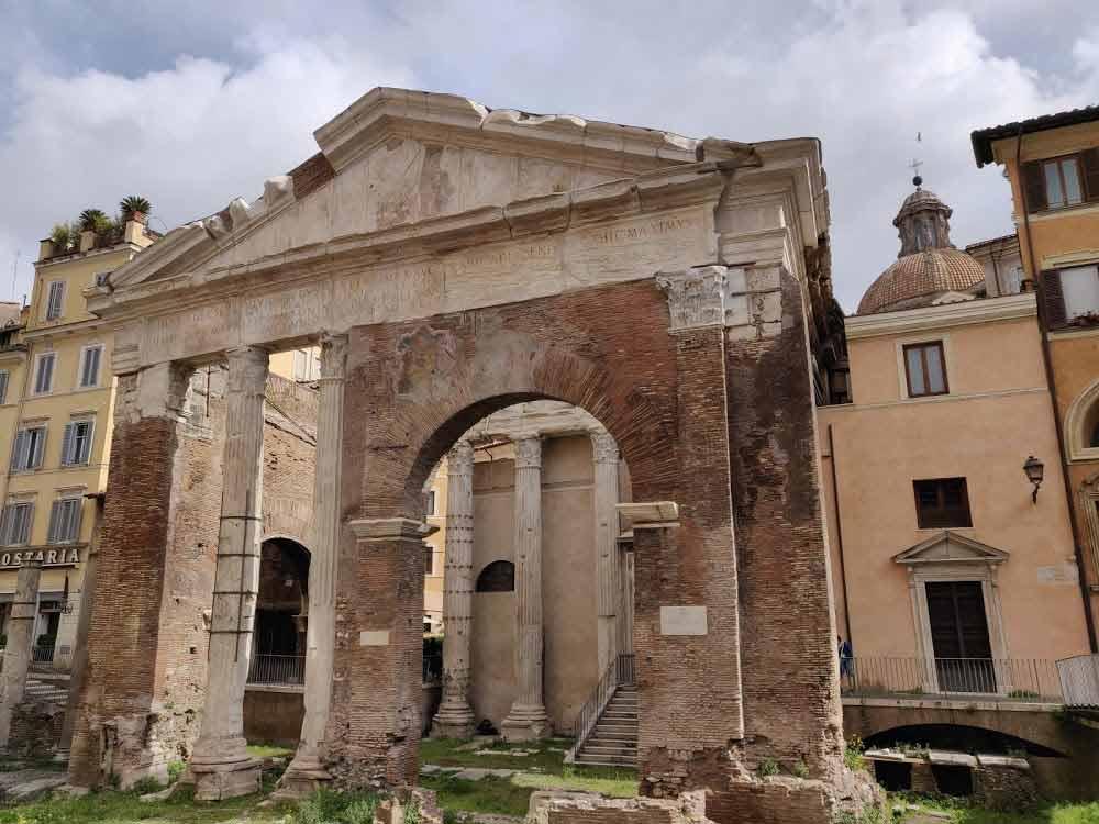 The Portico of Octavia in Rome's Ghetto or Jewish Quarter