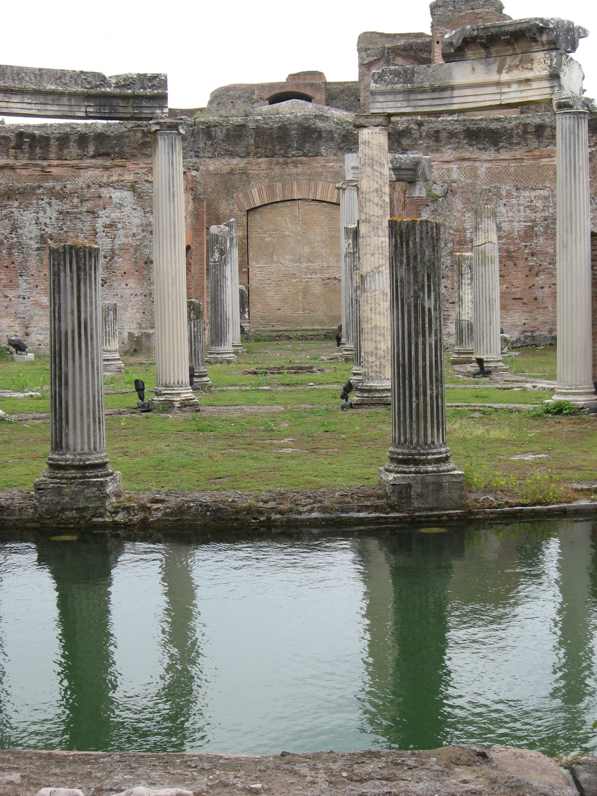 another detail of the so-called Maritime Theater in Hadrian's Villa. It was more probably and perhaps more incredibly a private bedroom surrounded by a moat!