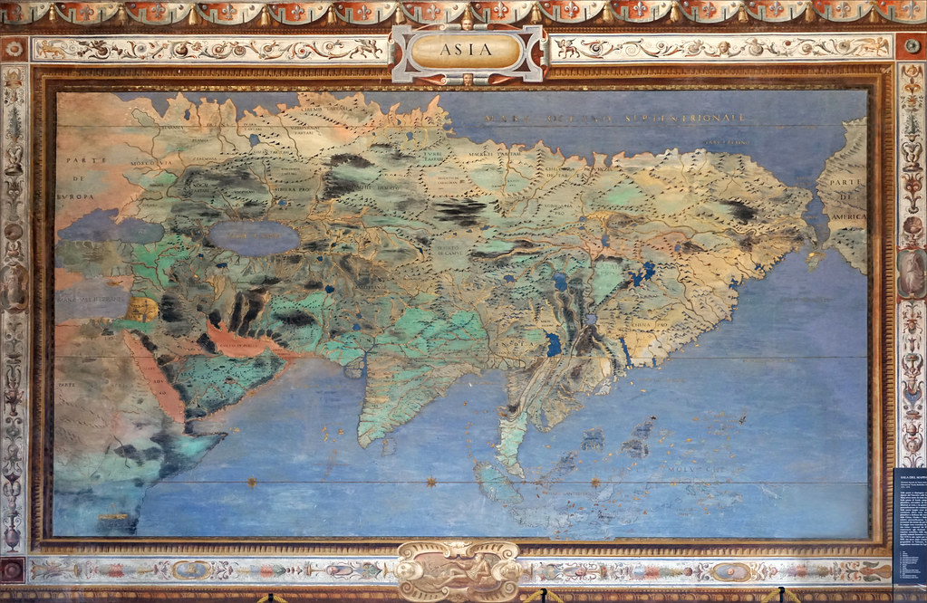 one of the many maps frescoes in the Palazzo Farnese near Viterbo