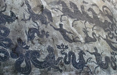 Mosaic pavement in the Ancient city of Ostia Antica