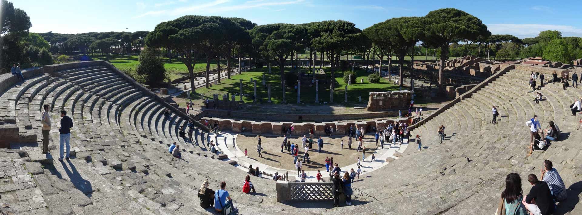 the theater in the ancient city of ostia antica
