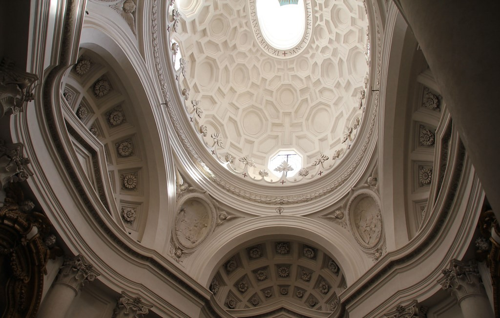 Borromini's unconventional architecture and stunning dome at San Carlo, seen in the picture, adds to the Roma Barocca/Quirinal Hill experience