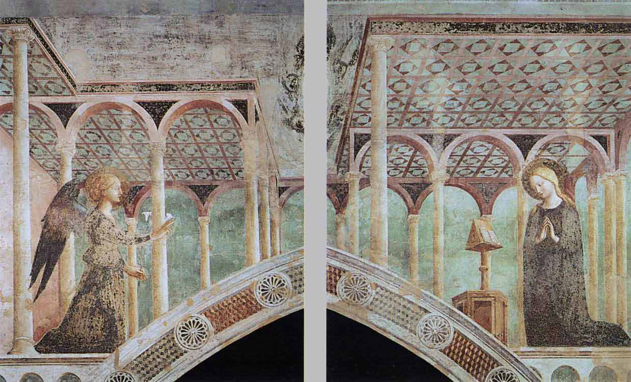 late Medieval art, i.e. fresco, from a chapel in San Clemente