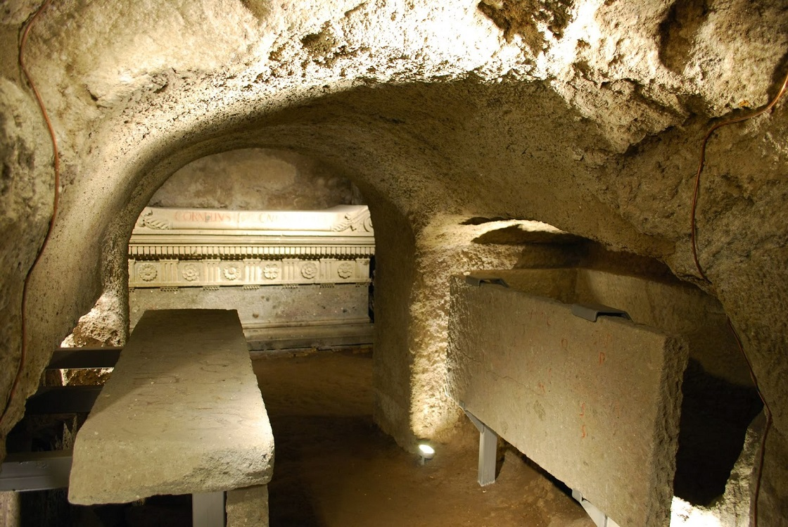 inside the sepulcher of the scipios