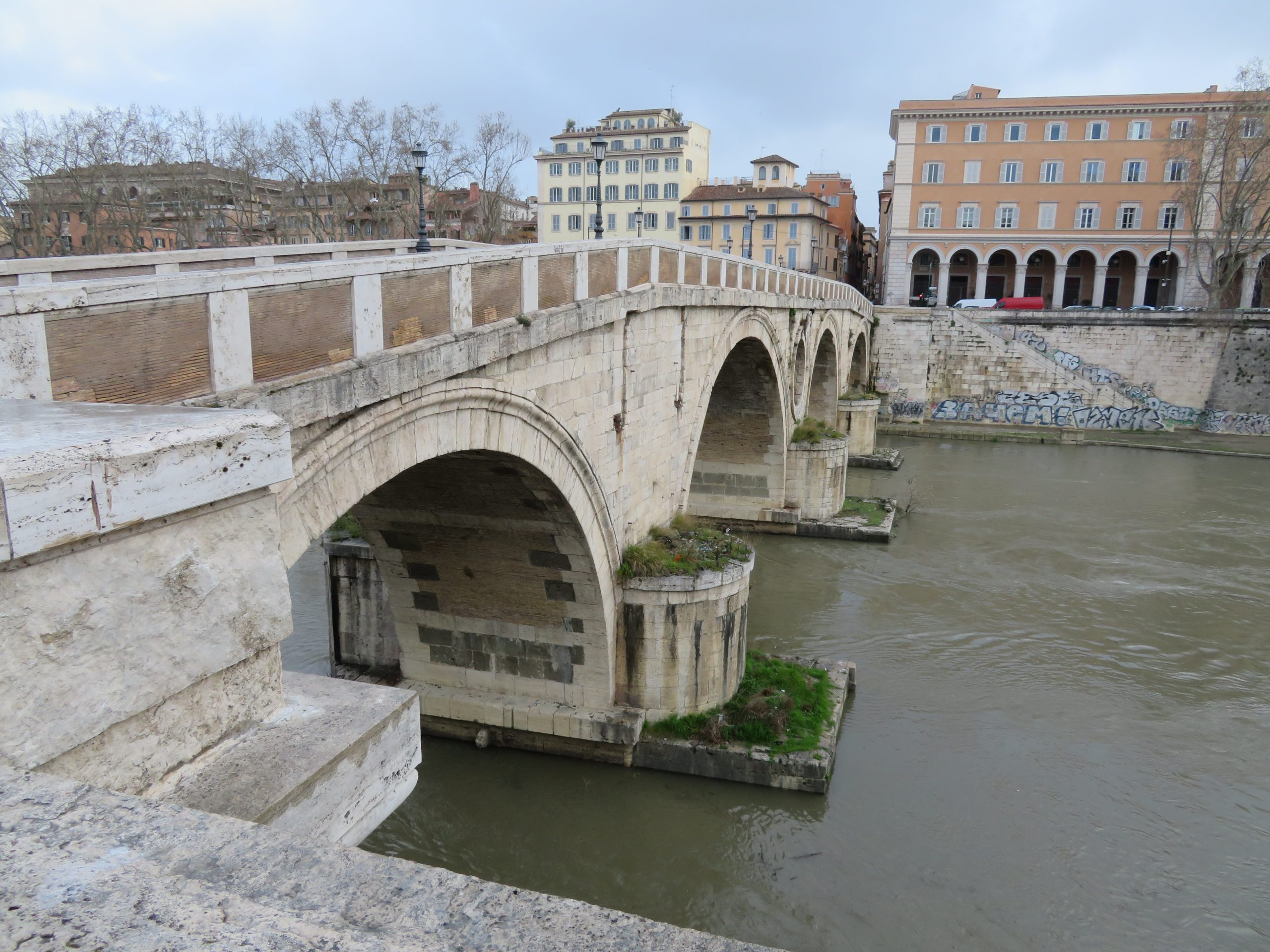 Sixtus's bridge from the late 1400s connecting Trastevere to Rome's center